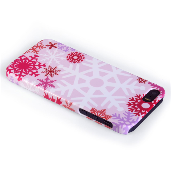 Caseflex iPhone 5 / 5S Winter Christmas Snowflake Cover – Red