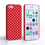 Caseflex iPhone SE Cute Hearts Case - Red