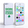 Caseflex iPhone SE Wilde Drinking Classes Quote Hard Case – White and Green