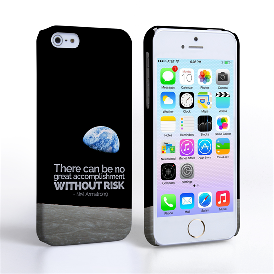 Caseflex iPhone 5 / 5S Neil Armstrong Quote Case