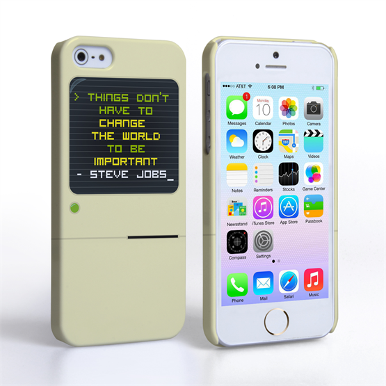 Caseflex iPhone SE Steve Jobs Quote Case