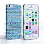 Caseflex iPhone 5/5S Fairisle Case – Blue with Blue Background