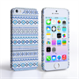 Caseflex iPhone SE Fairisle Case – Blue with White Background