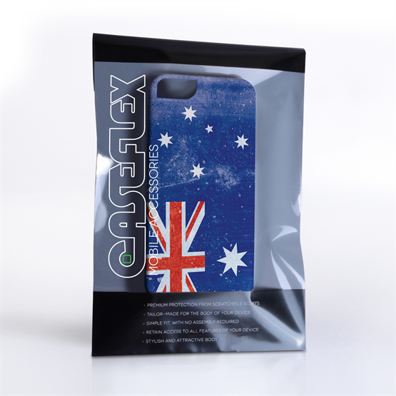 Caseflex iPhone SE Retro Australia Flag Case