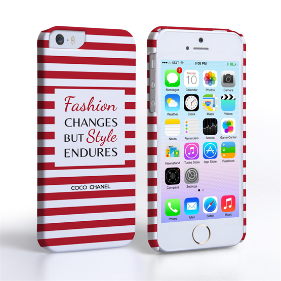 Caseflex iPhone 5/5s Chanel 'Fashion Changes' Quote Case – Red and White