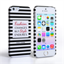 Caseflex iPhone SE Chanel 'Fashion Changes' Quote Case – Black and White
