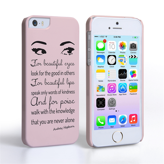 Caseflex iPhone SE Audrey Hepburn 'Eyes' Quote Case