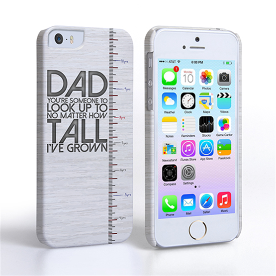 Caseflex iPhone 5 / 5S Dad Growing Up Quote Case/Cover