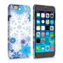 Caseflex iPhone 6 and 6s Winter Christmas Snowflake Hard Case - White / Blue