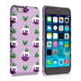 Caseflex iPhone 6 and 6s Christmas Pudding Hard Case - Purple