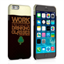 Caseflex iPhone 6 and 6s Wilde Drinking Classes Quote Hard Case - Black