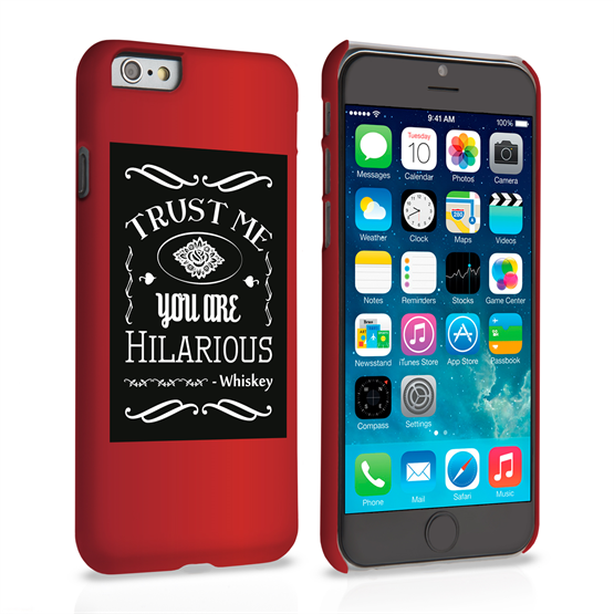 Caseflex iPhone 6 and 6s Bourbon Whiskey Quote Hard Case – Black