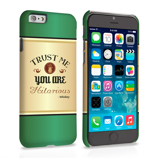 Caseflex iPhone 6 and 6s Irish Whiskey Quote Hard Case – Green