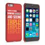 Caseflex iPhone 6 and 6s Single, Double, Triple Quote Hard Case – Red