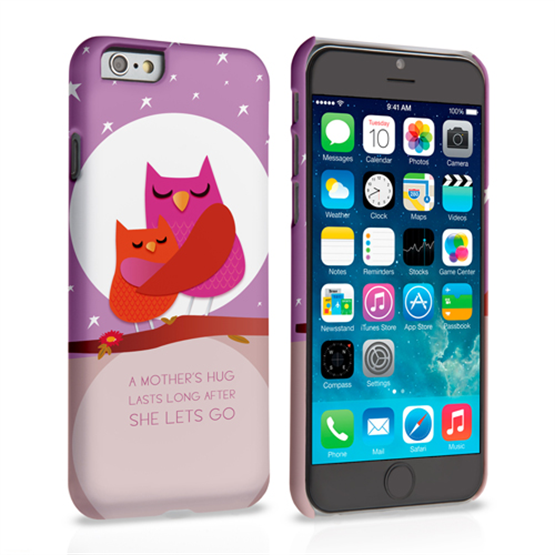 Caseflex iPhone 6 and 6s Mummy Owl Hard Case – Purple and Pink