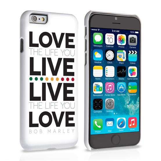 Caseflex iPhone 6 and 6s Bob Marley Quote Case