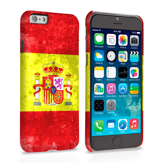 Caseflex iPhone 6 and 6s Retro Spain Flag Case