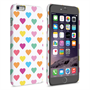 Caseflex iPhone 6 Plus and 6s Plus Polka Hearts Pastel Case
