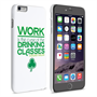 Caseflex iPhone 6 Plus and 6s Plus Wilde Drinking Classes Quote Hard Case – White and Green