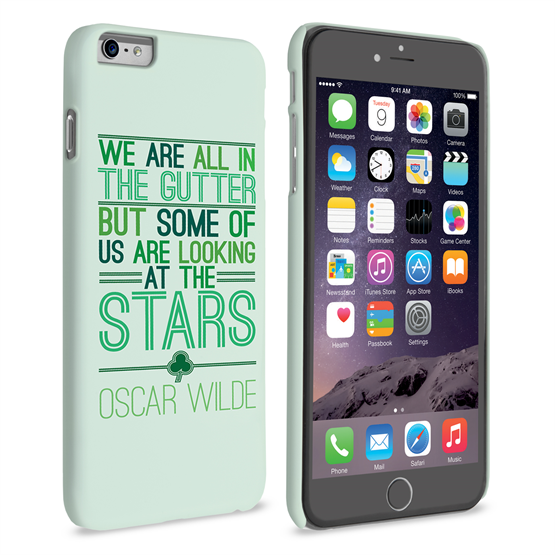 Caseflex iPhone 6 Plus and 6s Plus Wilde Stars Quote Hard Case – White and Green