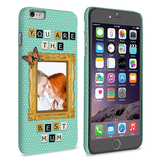 Caseflex iPhone 6 and 6s Plus 'You are the best Mum' Personalised Hard Case – Blue