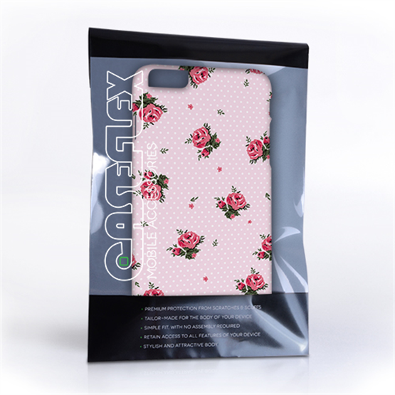 Caseflex iPhone 6 and 6s Plus Vintage Roses Polka Dot Wallpaper Hard Case – Pink