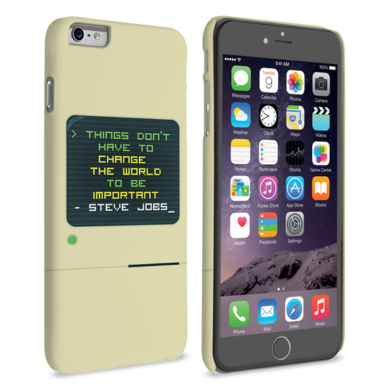 Caseflex iPhone 6 Plus and 6s Plus Steve Jobs Quote Case