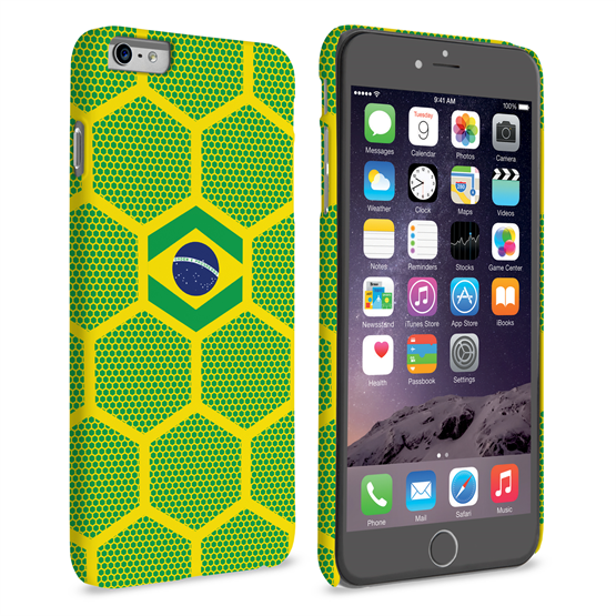Caseflex iPhone 6 Plus and 6s Plus Brazil Football Pattern World Cup Case