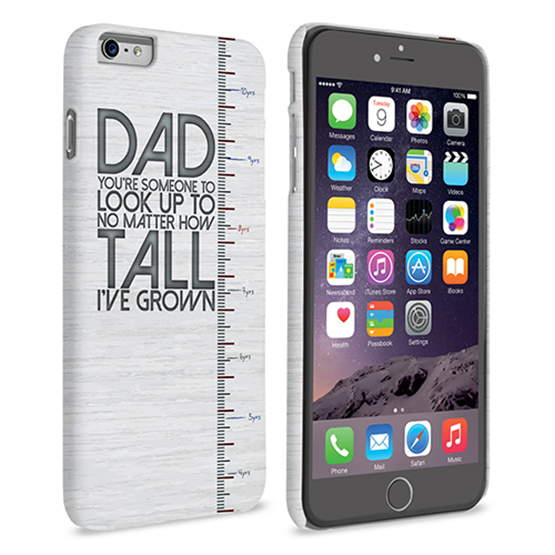 Caseflex iPhone 6 and 6s Plus Dad Growing Up Quote Case/Cover