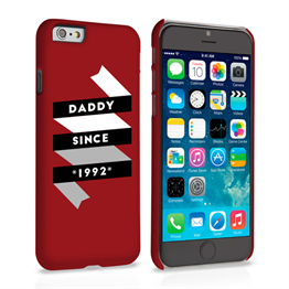 Caseflex Daddy Custom Year iPhone 6 and 6s Plus Case - Red