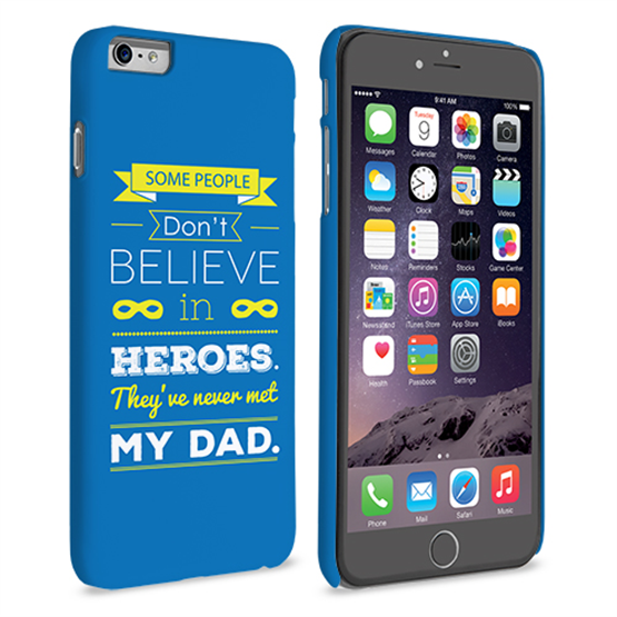 Caseflex Dad Heroes Quote iPhone 6 and 6s Plus Case - Blue