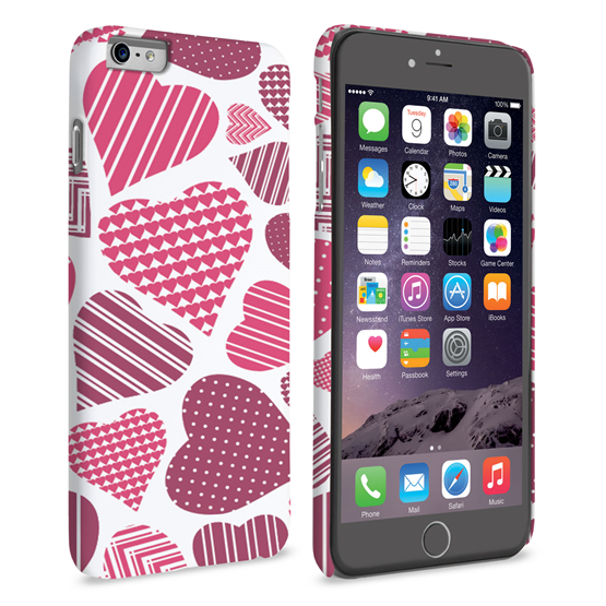 Caseflex iPhone 6 Plus and 6s Plus Love Heart Pattern Case