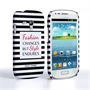 Caseflex Samsung Galaxy S3 Mini Chanel 'Fashion Changes' Quote Case – Black and White
