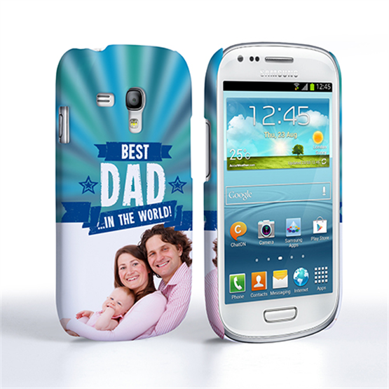 Caseflex Samsung Galaxy S3 Mini Best Dad in the World (Blue) Case/Cover