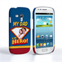 Caseflex My Dad, My Hero Customised Photo Samsung Galaxy S3 Mini Case – Blue