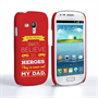 Caseflex Dad Heroes Quote Samsung Galaxy S3 Mini Case - Red