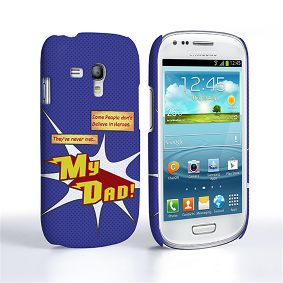 Caseflex My Dad Hero Cartoon Samsung Galaxy S3 Mini Case – Blue