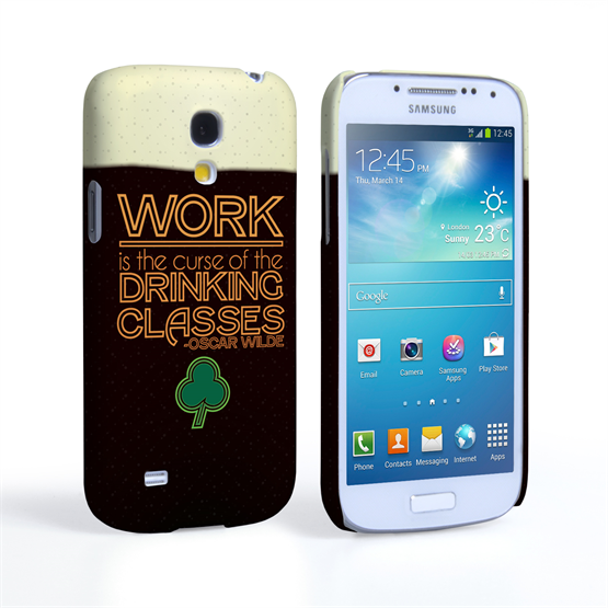 Caseflex Samsung Galaxy S4 Mini Wilde Drinking Classes Quote Hard Case Black