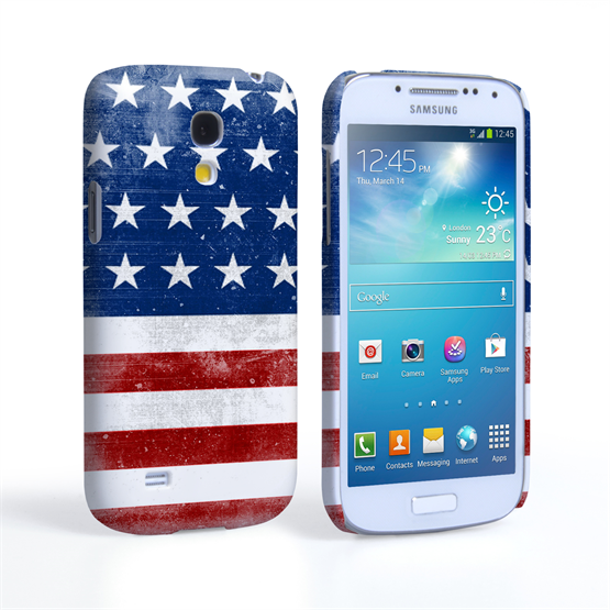 Caseflex Samsung Galaxy S4 Mini Retro USA Flag Case