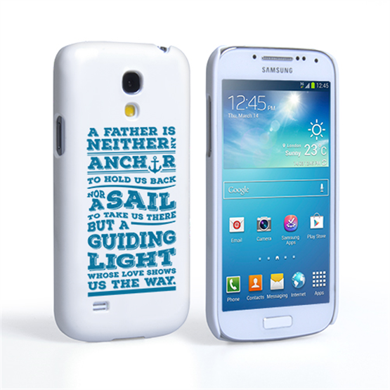 Caseflex Father Sail Quote Samsung Galaxy S4 Mini Case