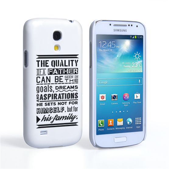Caseflex Father Family Quote Samsung Galaxy S4 Mini Case