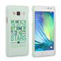 Caseflex Samsung Galaxy A3 Wilde Stars Quote Hard Case – White and Green