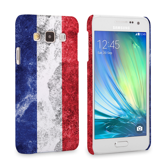 Caseflex Samsung Galaxy A3 Retro France Flag Case