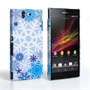 Caseflex Sony Xperia Z Winter Christmas Snowflake Cover – Blue