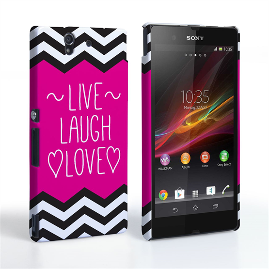 Caseflex Sony Xperia Z Live Laugh Love Heart Case