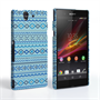 Caseflex Sony Xperia Z Fairisle Case – Blue with Blue Background