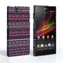 Caseflex Sony Xperia Z Fairisle Case – Grey with Red Background