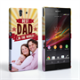 Caseflex Sony Xperia Z Best Dad in the World (Red) Case/Cover