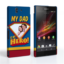 Caseflex My Dad, My Hero Customised Photo Sony Xperia Z Case – Blue