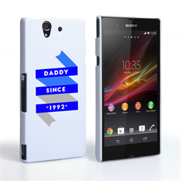 Caseflex Daddy Custom Year Sony Xperia Z Case - White